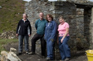 The volunteer team, Sheila Barker, Graham Brooks, Joyce Jackson, Hazel Kendrick