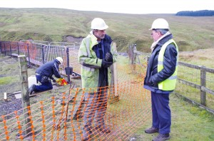 Neil and Peter discussing the new fence  09.10.2014