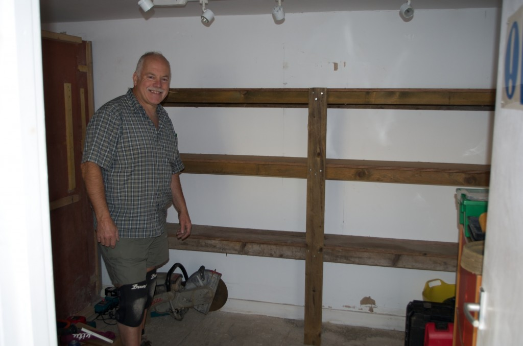 Allan Richardson and the new shelving
