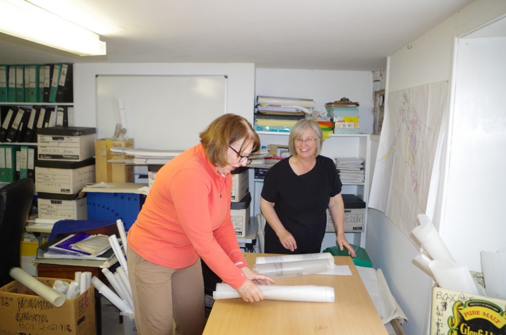 Liz and Joyce archiving