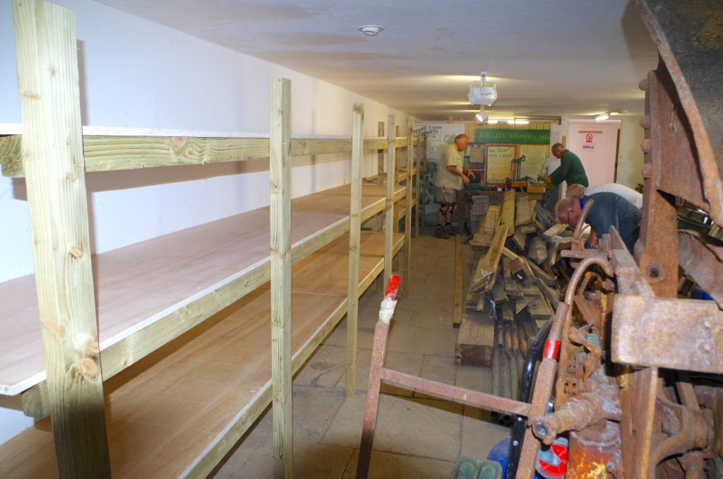 New shelving in The Barracks ground floor